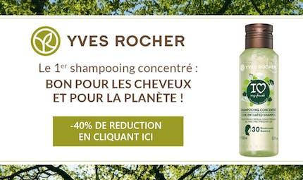 Bon plan Santé Magazine : bénéficier de -40% de réduction sur le shampooing I Love My Planet d'Yves Rocher