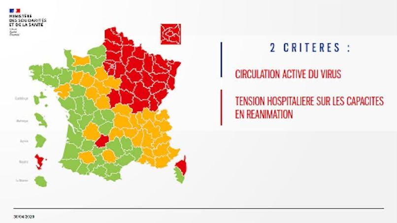 Déconfinement : la première carte des départements verts et rouges dévoilée