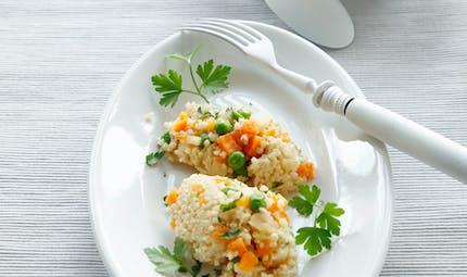 Risotto de millet aux petits légumes