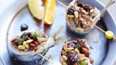 Roulés de sardines aux fruits secs