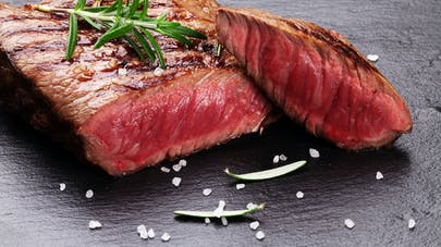 Tranches de viande rouge