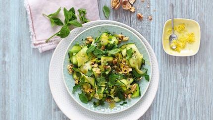 Salade de courgettes aux noix
