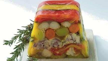 Terrine de légumes d'été au thon