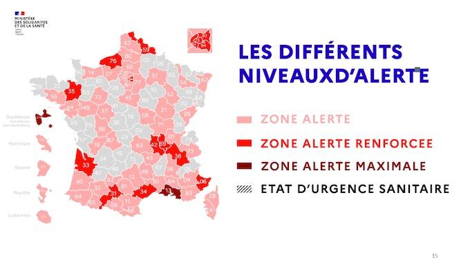 Zones alertes en France