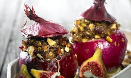 Oignons farcis aux fruits secs