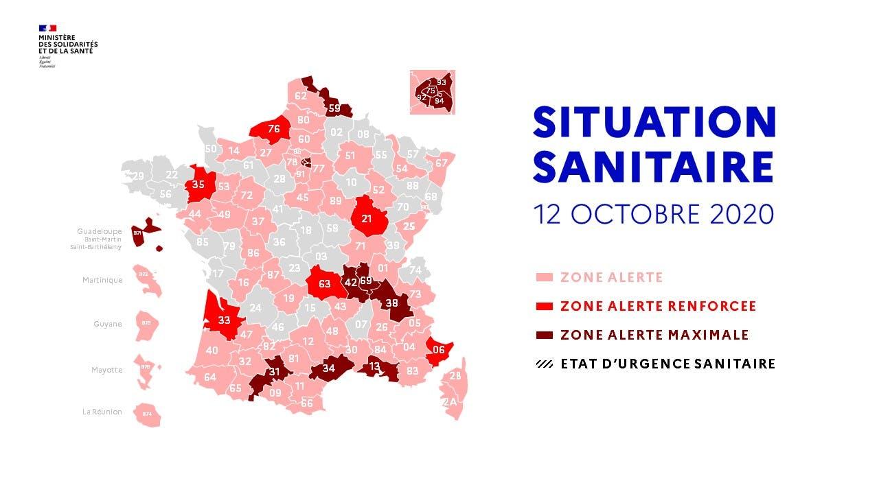 Carte Covid 19 Quelles Mesures Pour Quelles Couleurs Zones Roses Rouges Ecarlates Sante Magazine