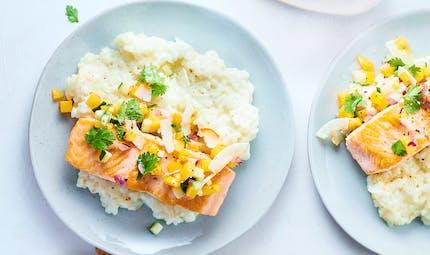 Pavé de saumon aux dés de mangue