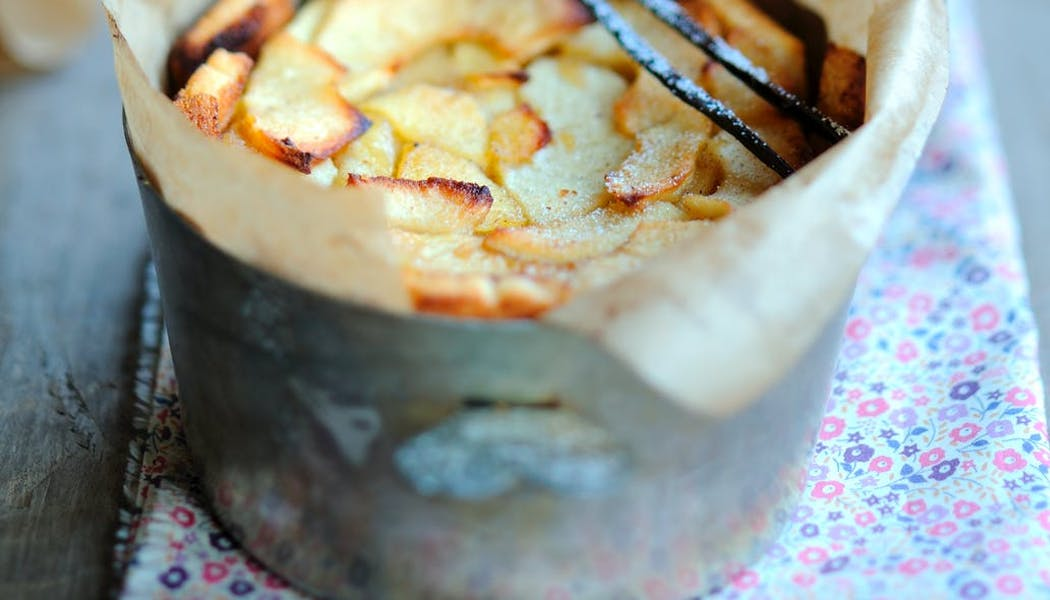 Pudding aux pommes vanillées