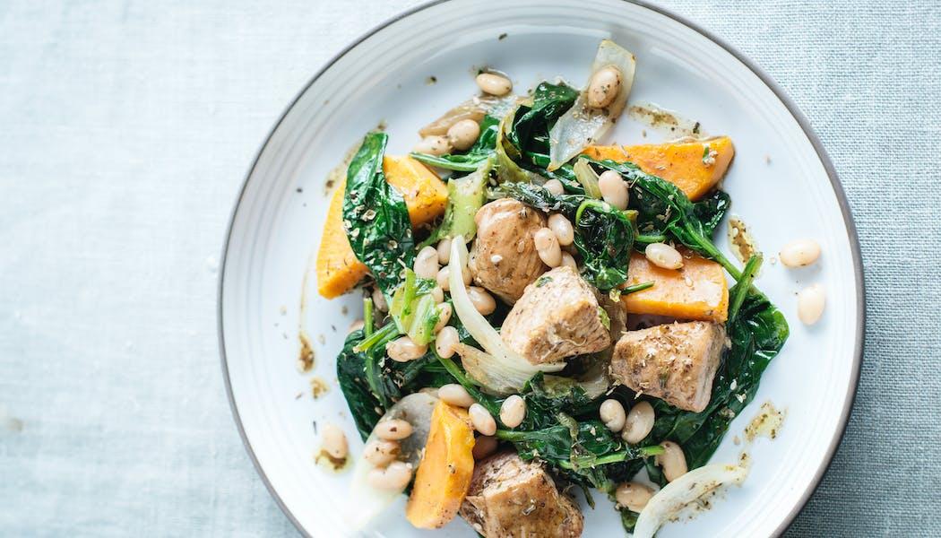 Sauté de dinde aux légumes et légumineuses