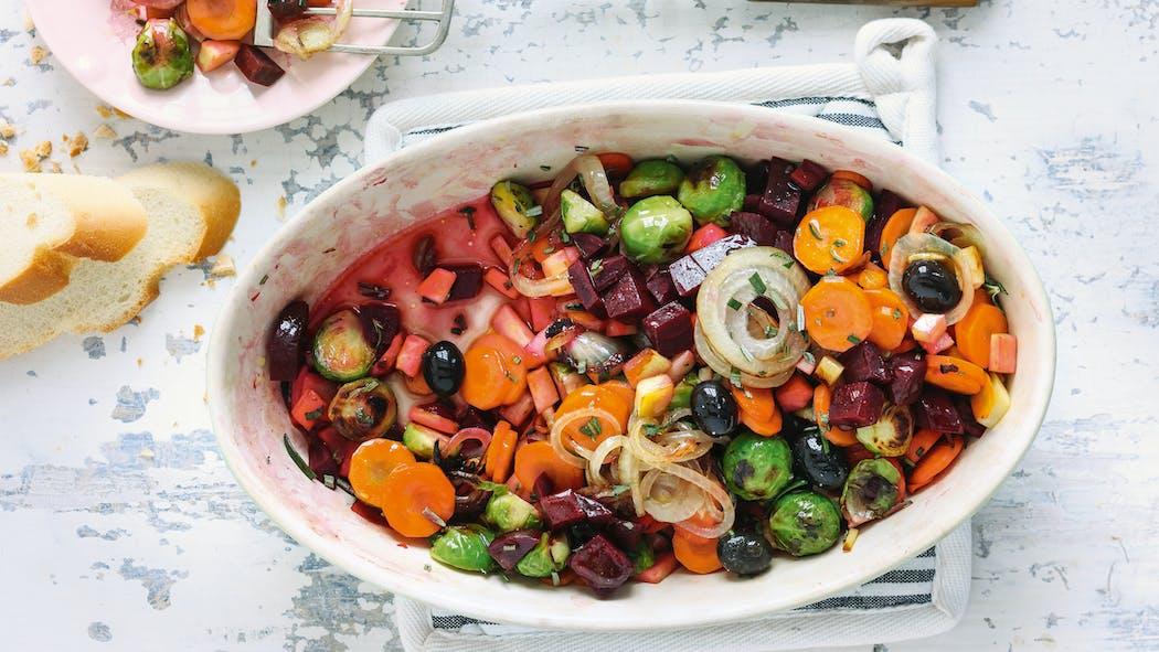 Poêlée de légumes d'hiver à l'orange