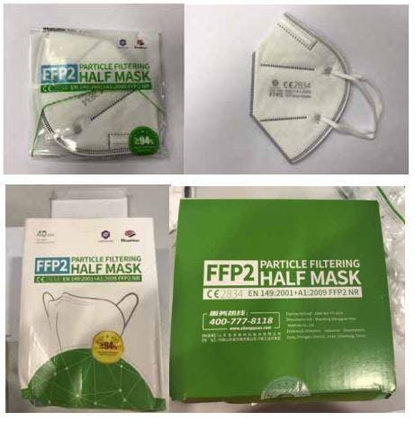 Rappel massif de masques FFP2 livrés aux soignants du fait d'une substance toxique