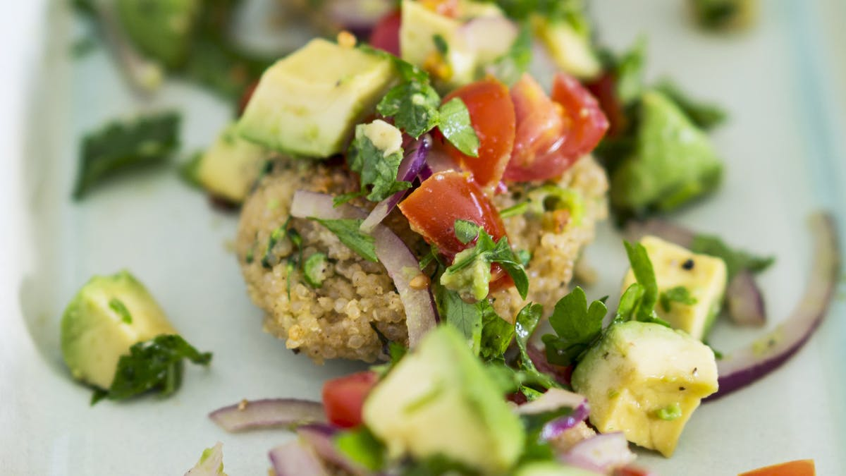Galettes de quinoa aux petits légumes