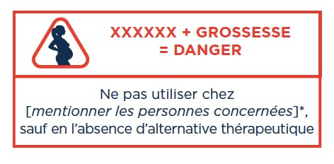 pictogramme danger médicament grossesse