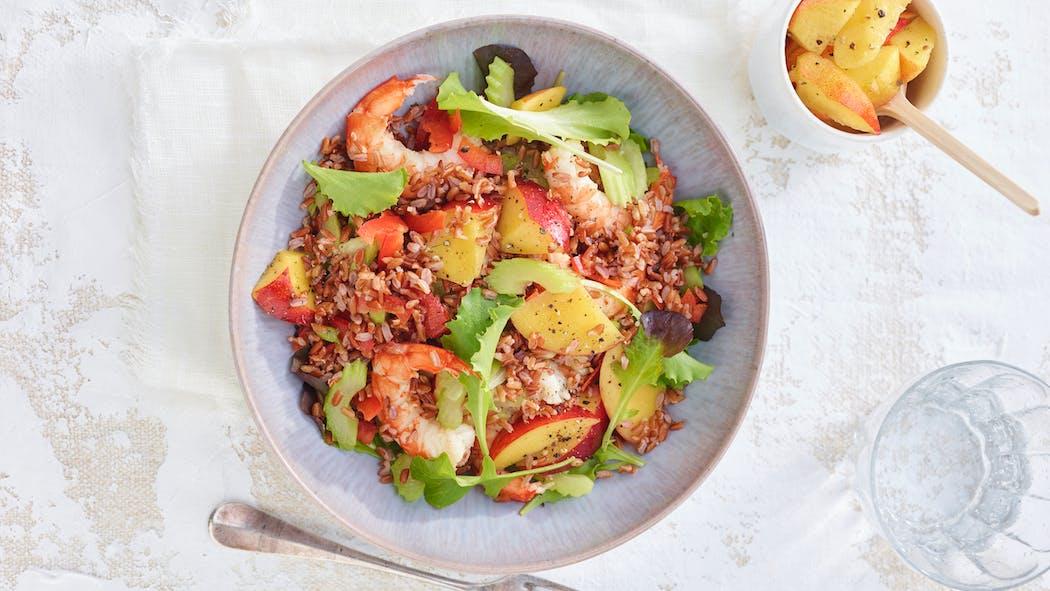 Poêlée de riz aux crevettes