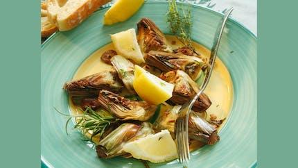 Artichauts rôtis aux herbes de Provence