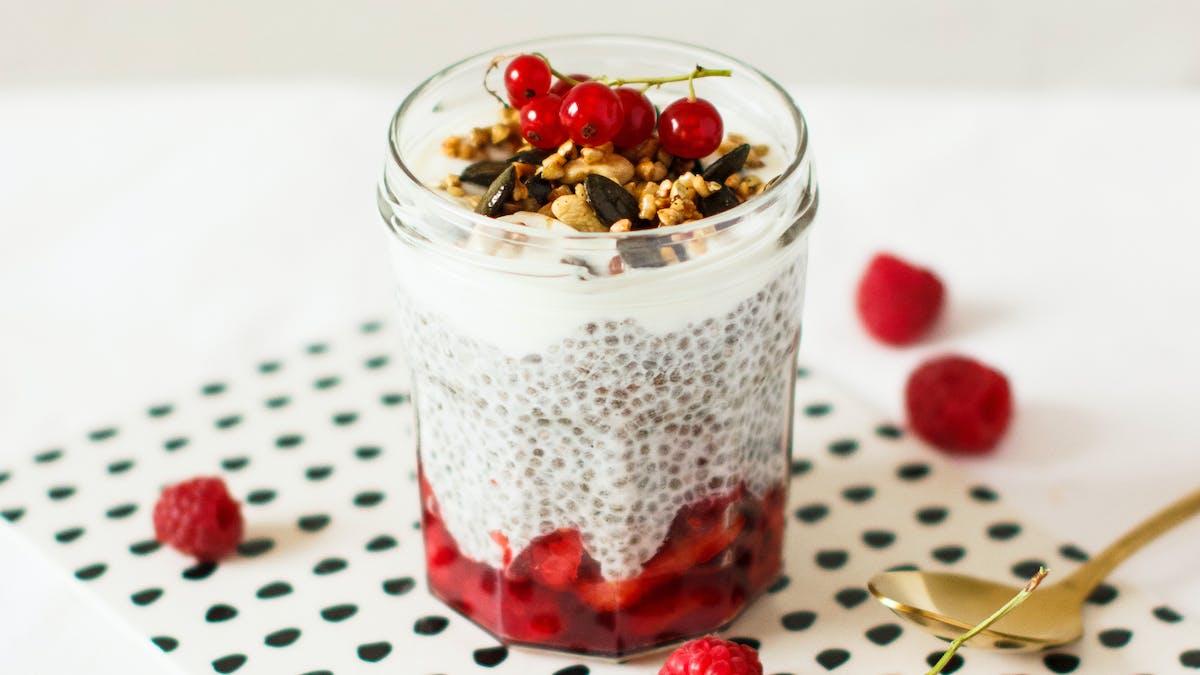 Pudding de chia aux fruits rouges