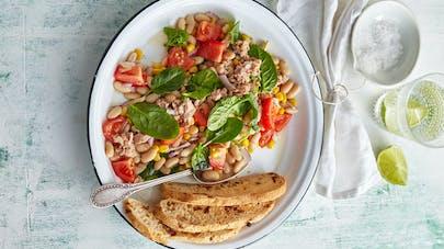 Salade de thon aux haricots cocos