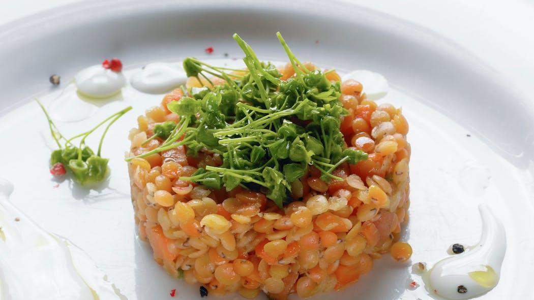Tartare de lentilles et carottes