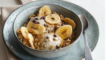 Glace à la banane et aux flocons d'avoine