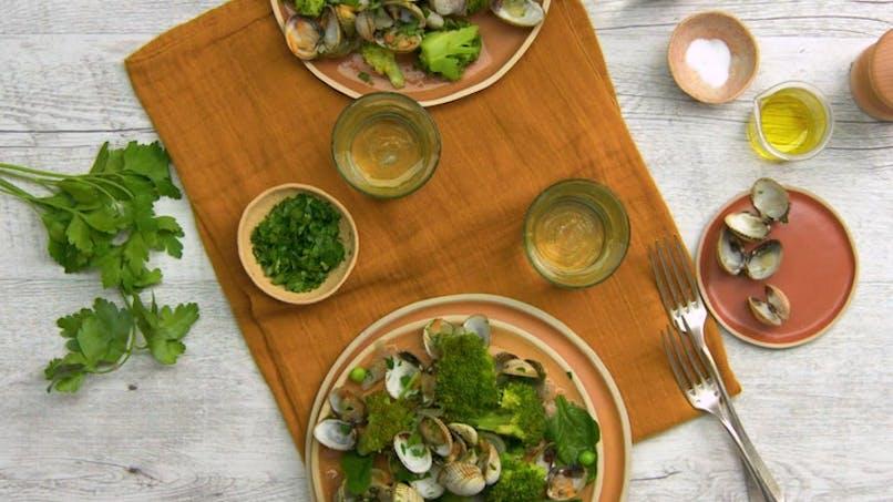Coques aux brocolis et petits légumes