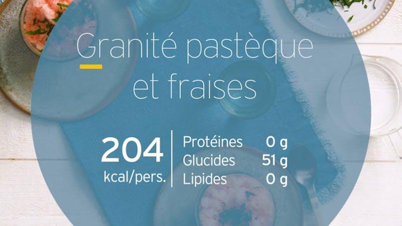 Granité pastèque et fraises