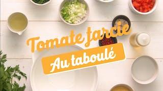 Recette de la tomate farcie au taboulé en vidéo