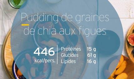 Pudding de graines de chia aux figues