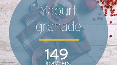 Yaourt aux graines de chia et à la grenade