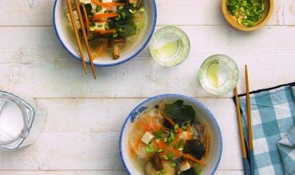 Soupe miso aux algues