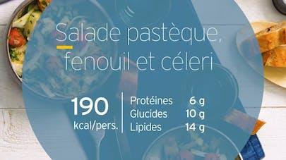 Salade pastèque fenouil et céleri