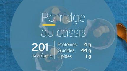 Porridge au cassis