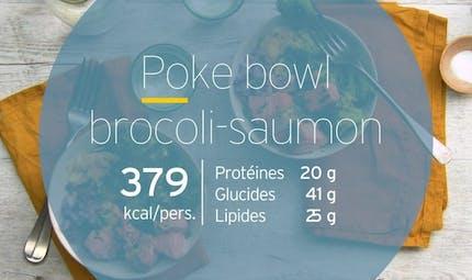 Poke bowl brocolis saumon
