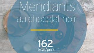Mendiants au chocolat noir