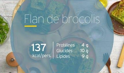 Flan aux brocolis