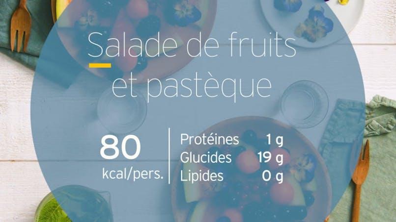Salade de fruits et pastèque