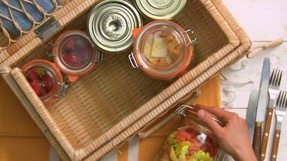 Recette pique-nique salade de penne in a jar