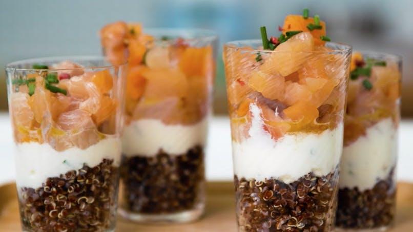 Recette du tartare de truite au quinoa en vidéo
