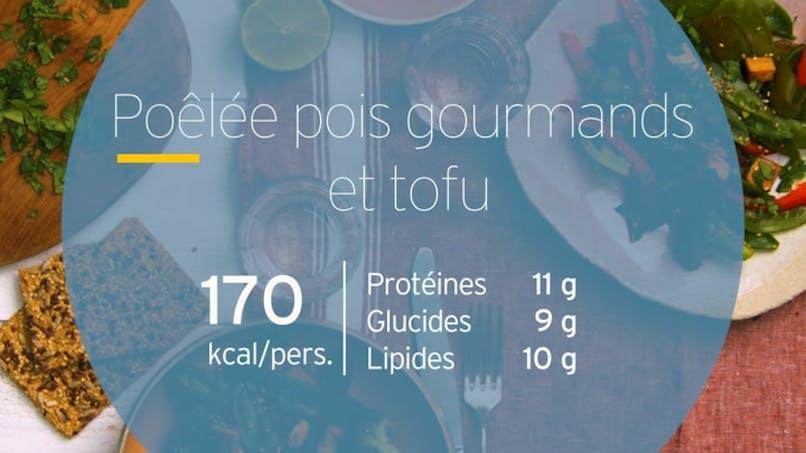 Poêlée de pois gourmands et tofu