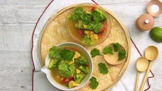 Soupe poulet brocolis au curry