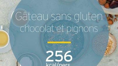 Gâteau sans gluten au chocolat et aux pignons