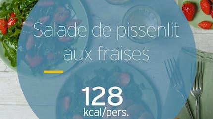 Salade de pissenlits aux fraises