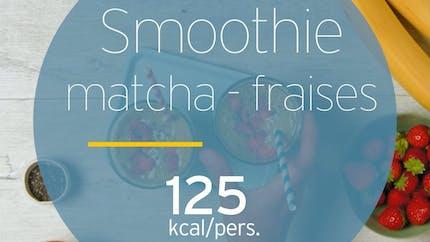 Smoothie au matcha et aux fraises