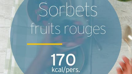 Sorbet de fruits rouges