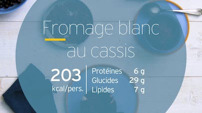 Fromage blanc au cassis
