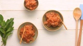 Recette du sorbet à la tomate et au citron en vidéo