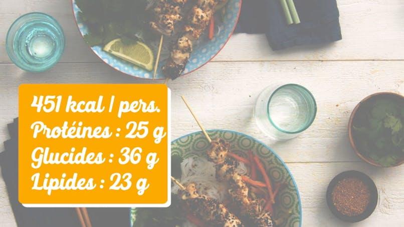 Recette du bobun aux légumes et poulet au sésame en vidéo